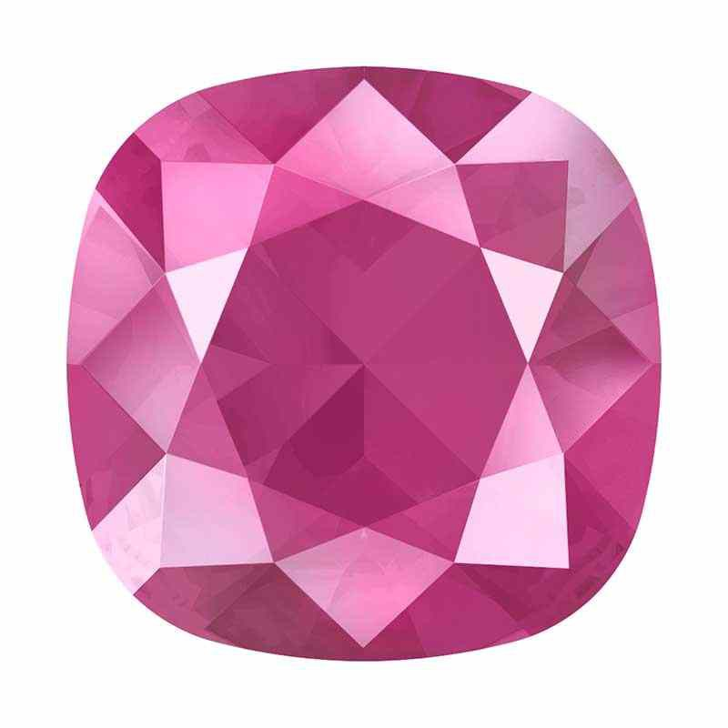 10mm 4470 Crystal Peony Pink (001 L113S) Cushion Square Fancy Stone Swarovski