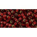 TR-11-25CF Silver-Lined Frosted Ruby TOHO Seed Beads