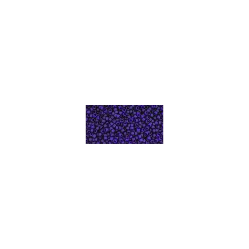TR-15-8DF Transparent-Frosted Cobalt TOHO Seed Beads
