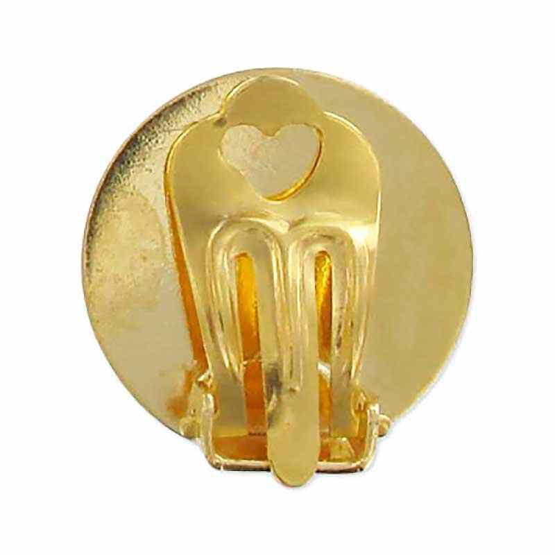 Metall Kõrva klipp 18mm kullavärvi padjaga