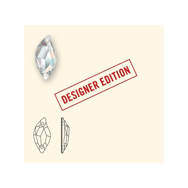 20x9MM Crystal F (001) 3254 Diamond Leaf SWAROVSKI ELEMENTS