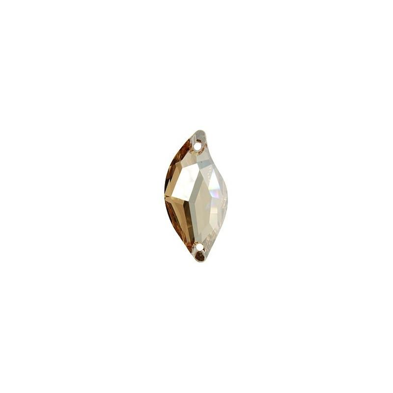 20x9MM Crystal Golden Shadow F (001 GSHA) 3254 Diamond Leaf SWAROVSKI ELEMENTS