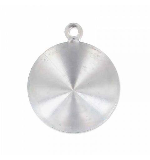 14mm Оправа для Сваровски Риволи 1122 цвет Серебра с кольцом