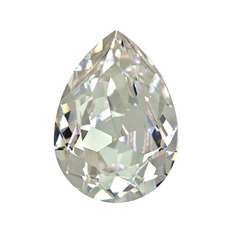 14x10mm Crystal F (001) Pear-Shaped Fancy Stone 4320 Swarovski