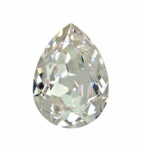 14x10mm Crystal F (001) Pear-Shaped Fancy Stone 4320 Swarovski