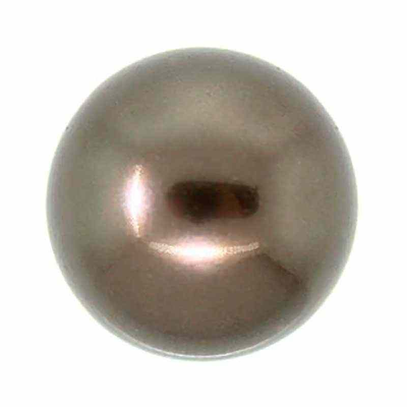12MM Crystal Brown Round Half Drilled Pearl (001 815) 5818 SWAROVSKI