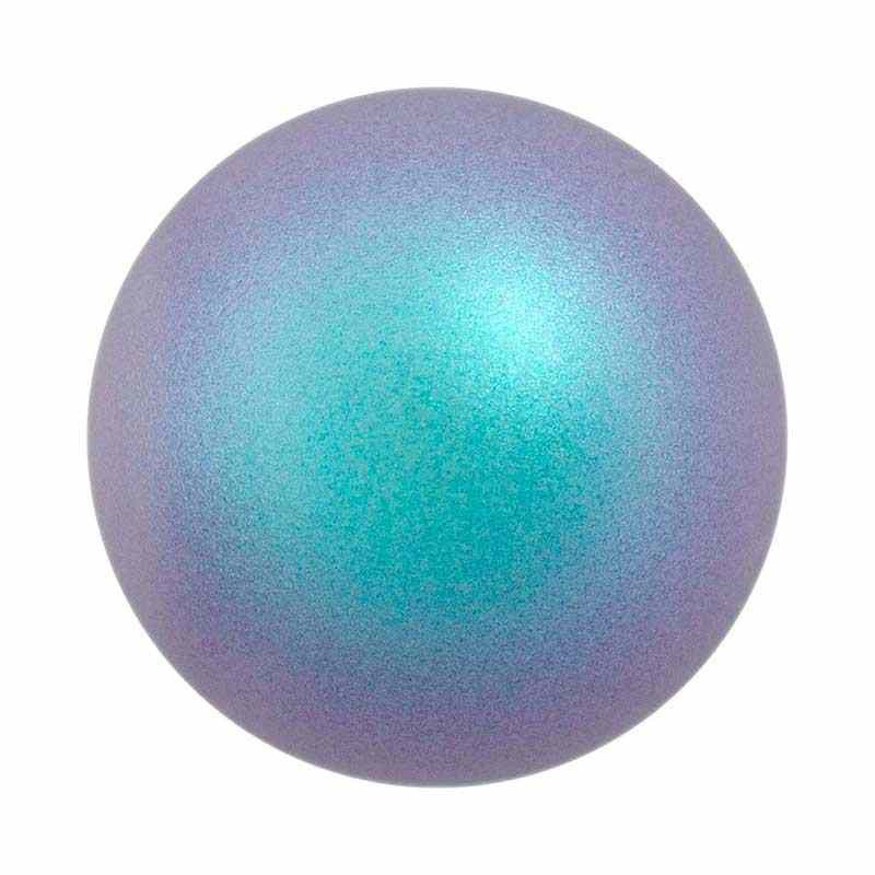 10MM Crystal Iridescent Light Blue Half Drilled Pearl (001 948) 5818 SWAROVSKI