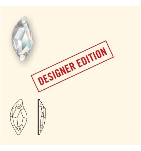 20x9MM Light Rose F (223) 3254 Diamond Leaf SWAROVSKI ELEMENTS