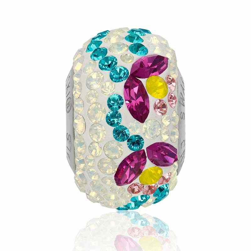 14mm BeCharmed Pavé Тюльпан 82125 Fuchsia (502) бусина Swarovski