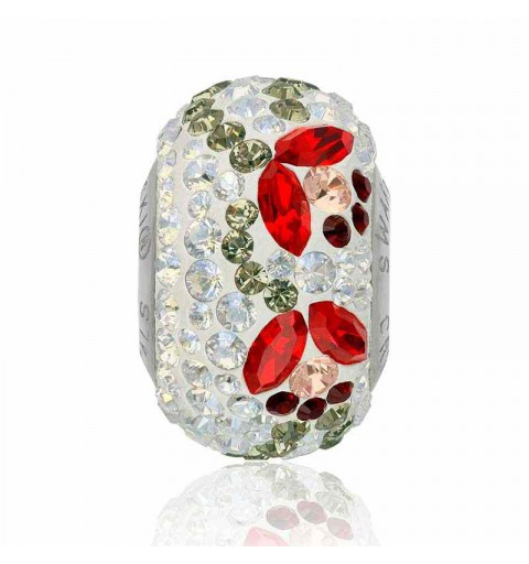 14mm BeCharmed Pavé Tulip 82125 Light Siam (227) Bead Swarovski