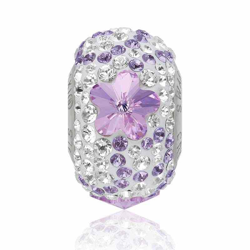 14mm BeCharmed Pavé Daisy 82143 Violet (371) бусина Swarovski