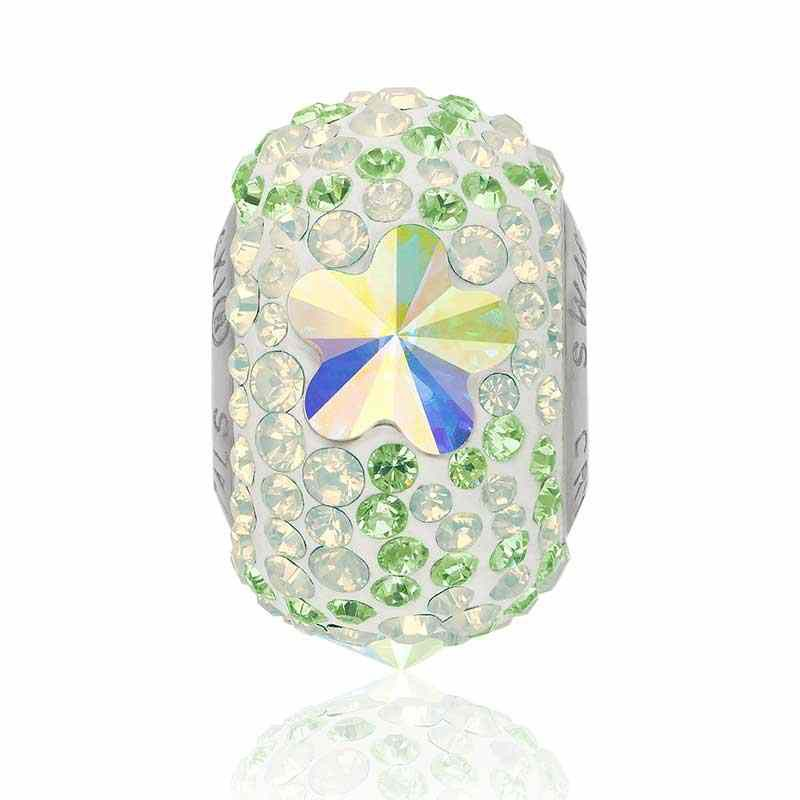 14mm BeCharmed Pavé Daisy 82143 Crystal AB (001 AB) Bead Swarovski
