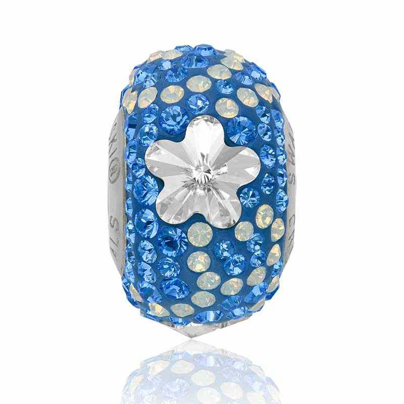 14mm BeCharmed Pavé Daisy 82143 Crystal (001) Bead Swarovski