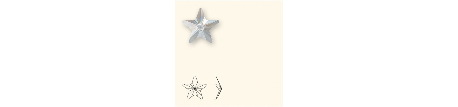 2816 Rivoli Звезда (Star) с плоским основанием