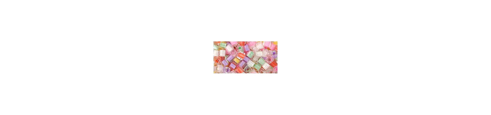 These color coordinated mixes are assortments of TOHO seed beads from all of the above mentioned groups