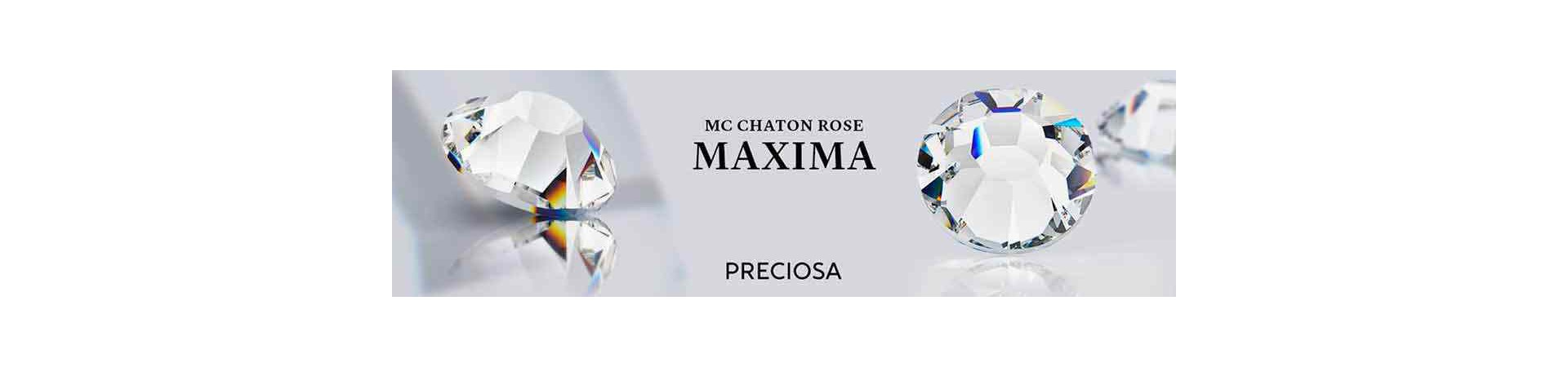 MAXIMA by PRECIOSA® Crystal AB MC Chaton Rose Lead-Free Brilliance