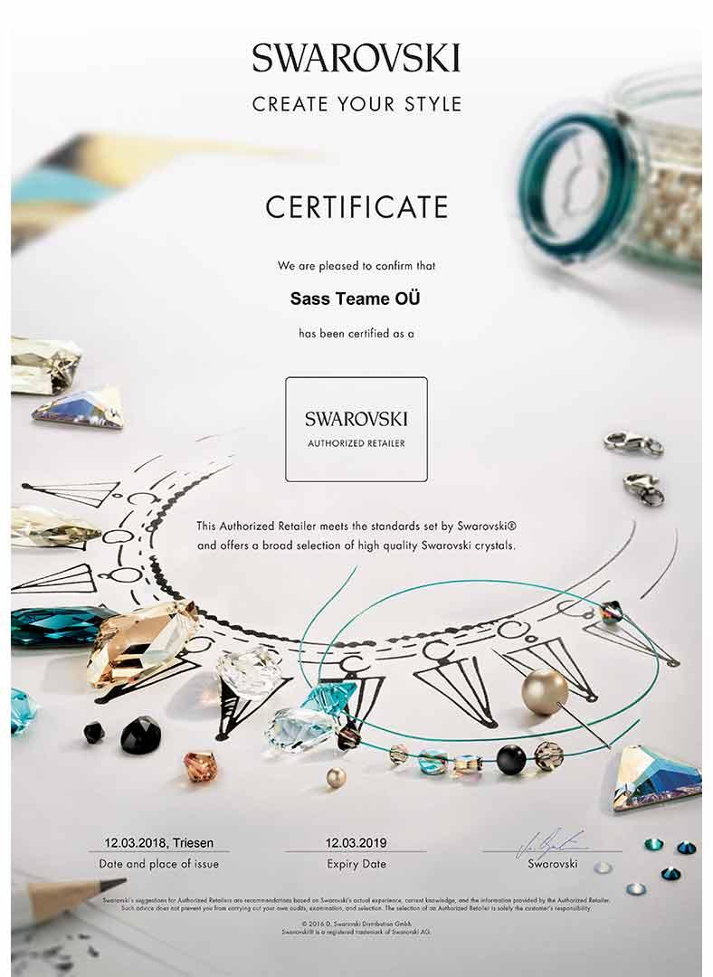 Swarovski brand partner CYS Certificate
